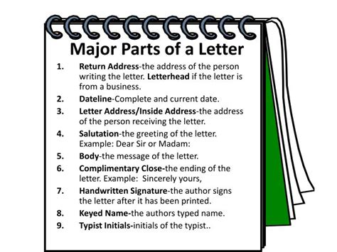 Business Letter Major Parts ppt types of letters powerpoint presentation id 3083678