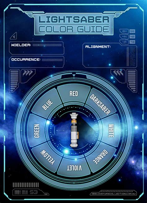 wars colors wars lightsaber color guide sci fi design