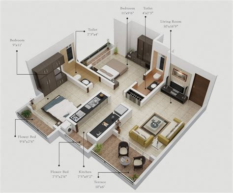 2 Bedroom Home Plans | 2 bedroom apartment house plans