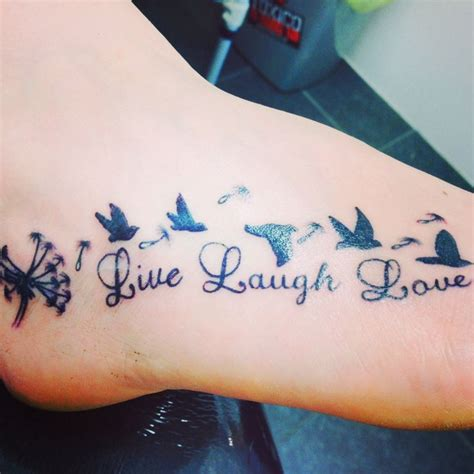 live laugh love tattoo my gorgeous foot live laugh tatts are