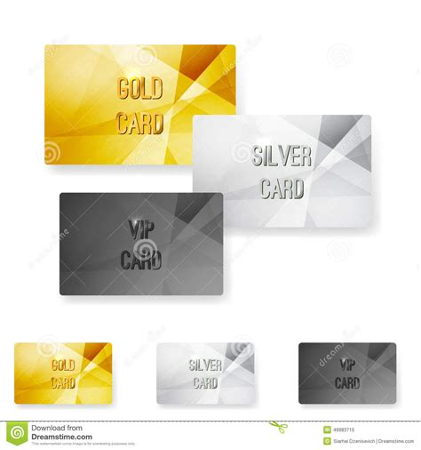 Vip Discount Card Template by Club Member Metal Modern Cards Template Stock Vector