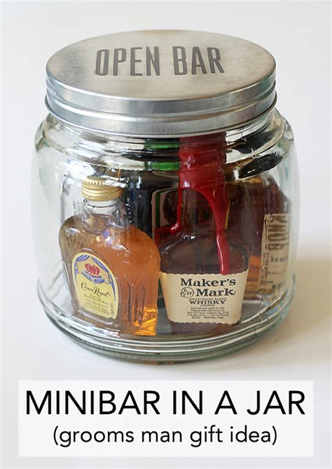 minibar in a jar an easy gift idea