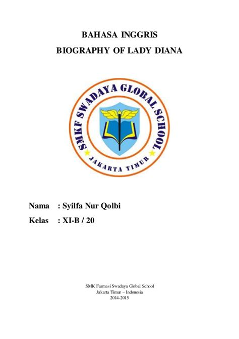 Biography Lady Diana Bahasa Inggris | b ing biography of lady diana