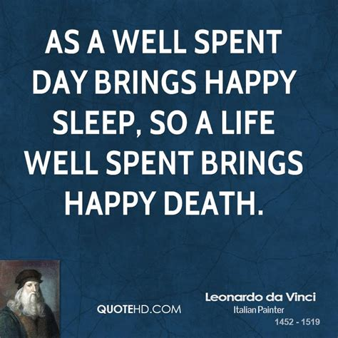 A Well Spent Day Essay by Leonardo Da Vinci Quotes