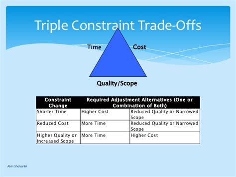 project management triple constraints 2 6 process improvement