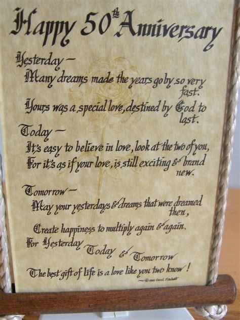 happy  anniversary poem  glass wood wall hanging