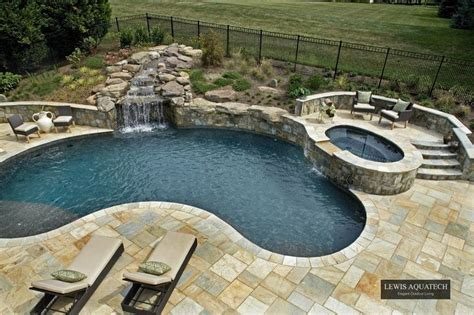 kidney shaped pools kidney shaped pool with hot tub google search patio