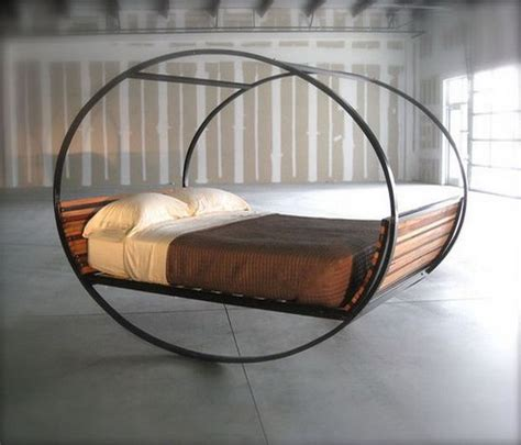 circular bed frame unique bed with a frame round creative things that are