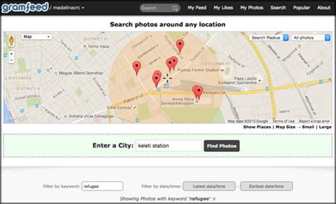 Gramfeed Search 3 Tools For Finding Geolocated Posts On Social Media Media News