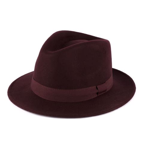 Handmade Hats For - 100 wool felt fedora hat with grosgrain band handmade in