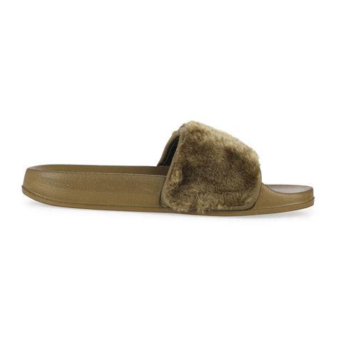 rubber sandals womens womens sandals sliders faux fur rubber sandals pool