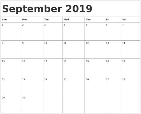 editable calendar september  calendar qualads