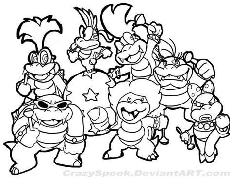 Pin Bros Printing mario koopaling tzkeu coloriages gar 231 ons coloring coloring pages and