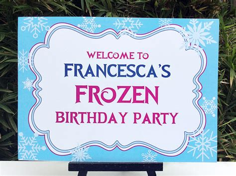 printable banner signs frozen birthday party printable templates frozen party theme