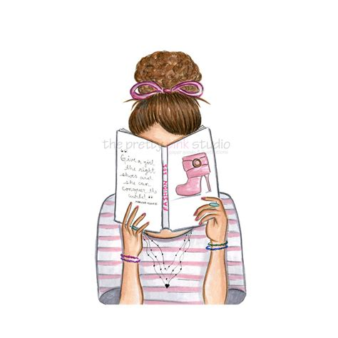 Reading Is Fashionable by Fashion Illustrated Reading Illustration Wall For