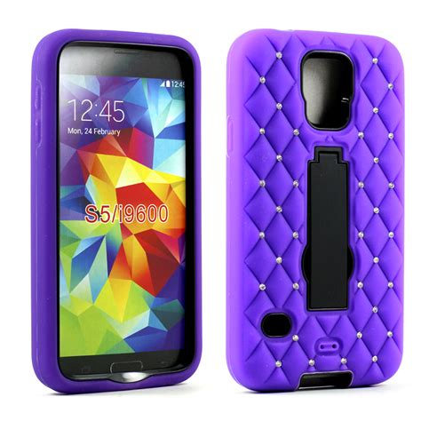Cover Samsung S5 I9600 Hybrid Armor Defender With Murah wholesale samsung galaxy s5 armor hybrid w stand black purple