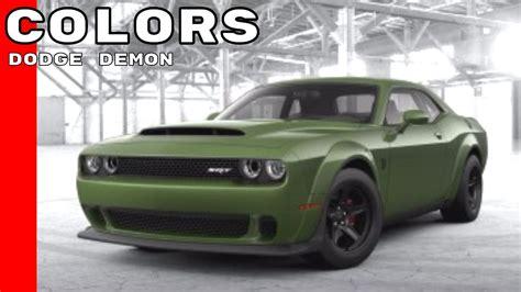 challenger colors dodge challenger srt colors