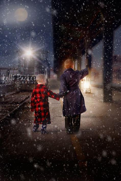train snow christmas photography polar express polar