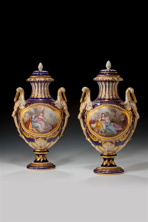 Antique Looking Vases by Antique Pair Of Sevres Style Vases Richard Gardner Antiques