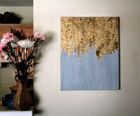 Purple Dining Room Ideas golden rain gold leaf painting modern art acrylic