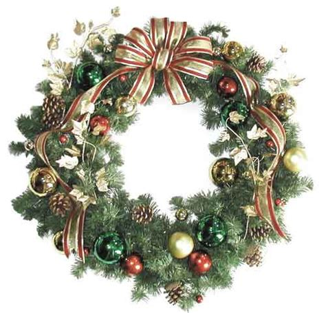 giant outdoor christmas wreaths sprays and greenery