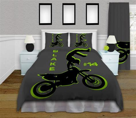 dirt bike bed set personalized motocross comforter motocross by eloquentinnovations