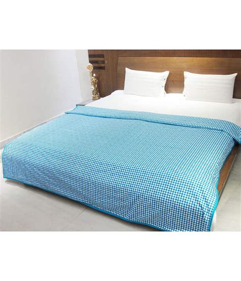 cotton comforter aurave blue check cotton comforter buy aurave blue check