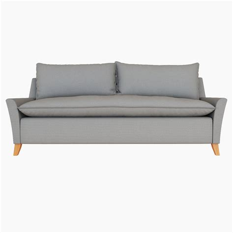 bliss couch west elm bliss down filled sofa 3d model cgstudio