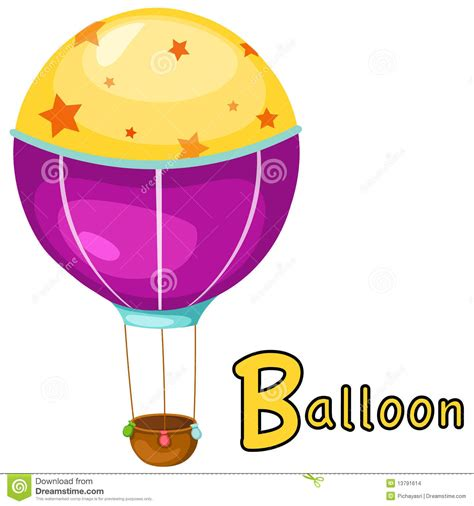 alphabet b for balloon stock images image 13791614