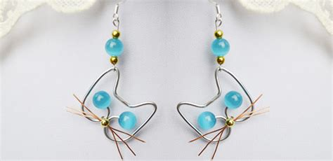 How To Make A Handmade L - handmade cat jewelry idea how to make adorable wire cat