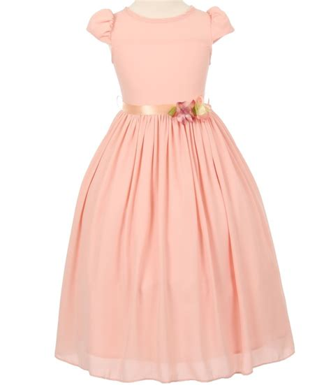 Jelly Shoes Ribbon Softpink pink flower dress with cap sleeves and satin ribbon