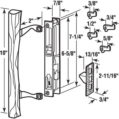 Sliding Glass Door Mechanism New Sliding Glass Door Keyed Hook Latch Lock Mechanism W Wood Pull H Ebay