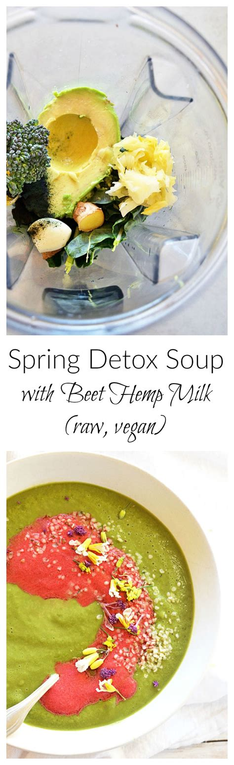 Beet Detox Soup by Detox Soup With Beet Hemp Milk Simply To Thrive