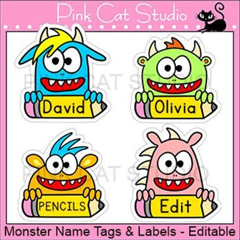 printable monster name tags 17 best ideas about locker name tags on pinterest desk
