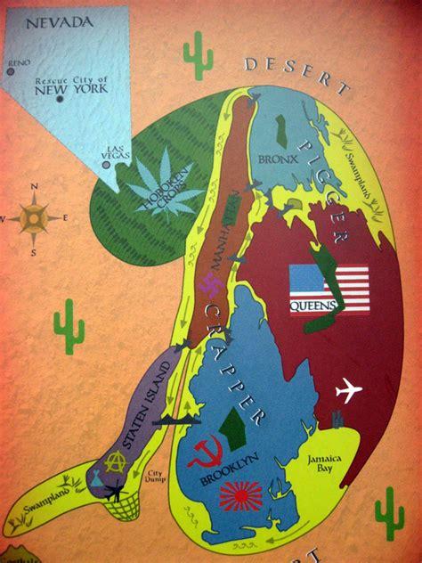 mad world map arthur nersesian s alternate history of nyc