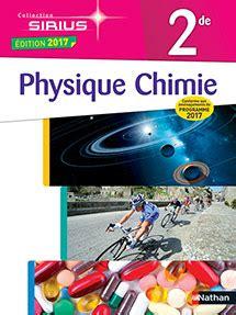 physique chimie 2de sirius physique chimie sirius 2de 2017 site compagnon editions nathan