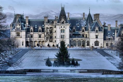 nc history of snowy christmas biltmore in winter history