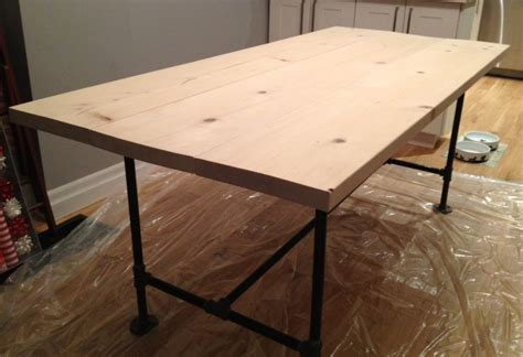 diy table with pipe legs diy pipe wood table pt 1 storefront