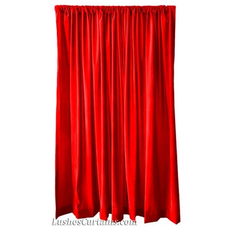 red velvet drapes 14 ft high flocking velvet curtains panels 14ft custom
