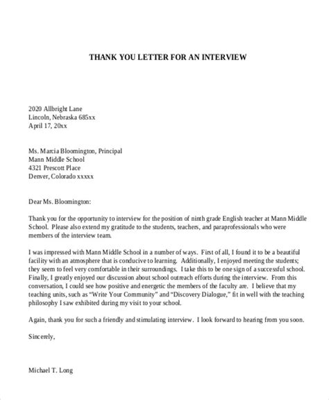 Thank You Letter For The Appointment Sle Appointment Letter 8 Exles In Pdf Word