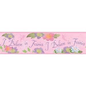 believe in fairies wallpaper border pink target
