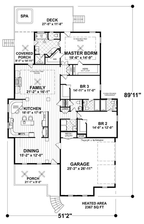 this classic craftsman cottage ranch house plan is