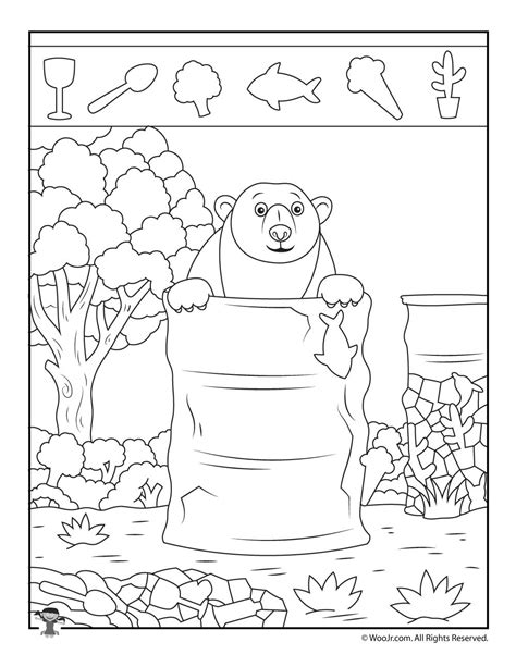 printable simple hidden pictures cing bear hidden object puzzle woo jr kids activities