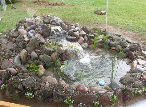 Small Backyard Pond Ideas Small Koi Pond Images