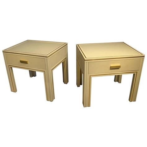 metal side tables for bedroom pair of side tables in lacquered metal by pierre vandel