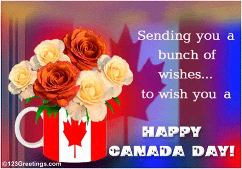 a bunch of wishes free canada day ecards greeting