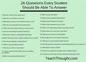26 questions to ask students in the week of school