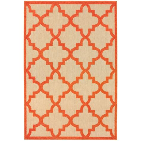 10 X 12 Outdoor Rug Home Decorators Collection Marina Orange 9 Ft 10 In X 12 Ft 10 In Indoor Outdoor Area Rug