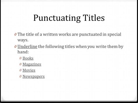 how to write a book name in a paper punctuating titles title title or title ppt