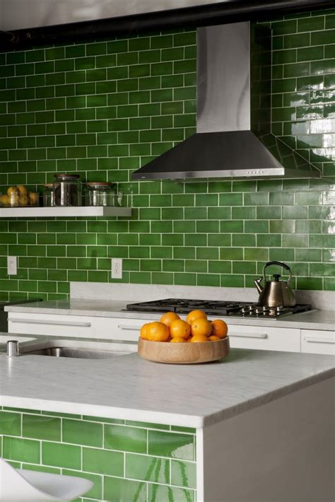kitchen tiles green an la kitchen goes green remodelista